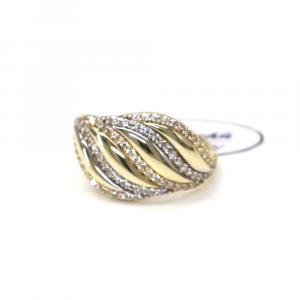Prsten ze žlutého zlata a zirkony AU 585/000 2,90 gr, Z442001