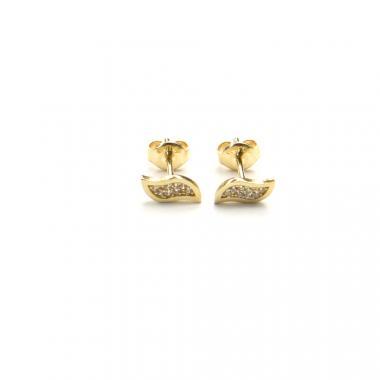 Náušnice PATTIC ze žlutého zlata se zirkony AU 585/000 1,05g BV020504Y