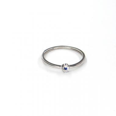 Prsten z bílého zlata s akvamarínem Pattic AU 585/000 1,05 g LMG08301BLW-55