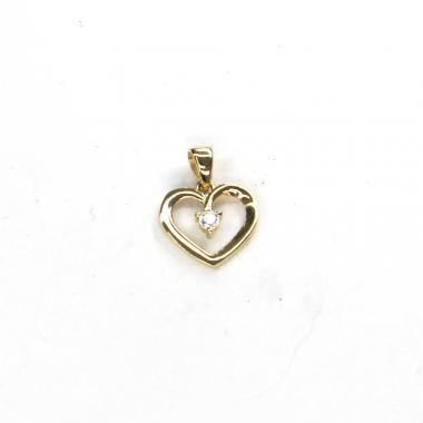 Přívěs ze žlutého zlata srdce se zirkonem PATTIC AU 585/000 0,90 gr ARP118005Y