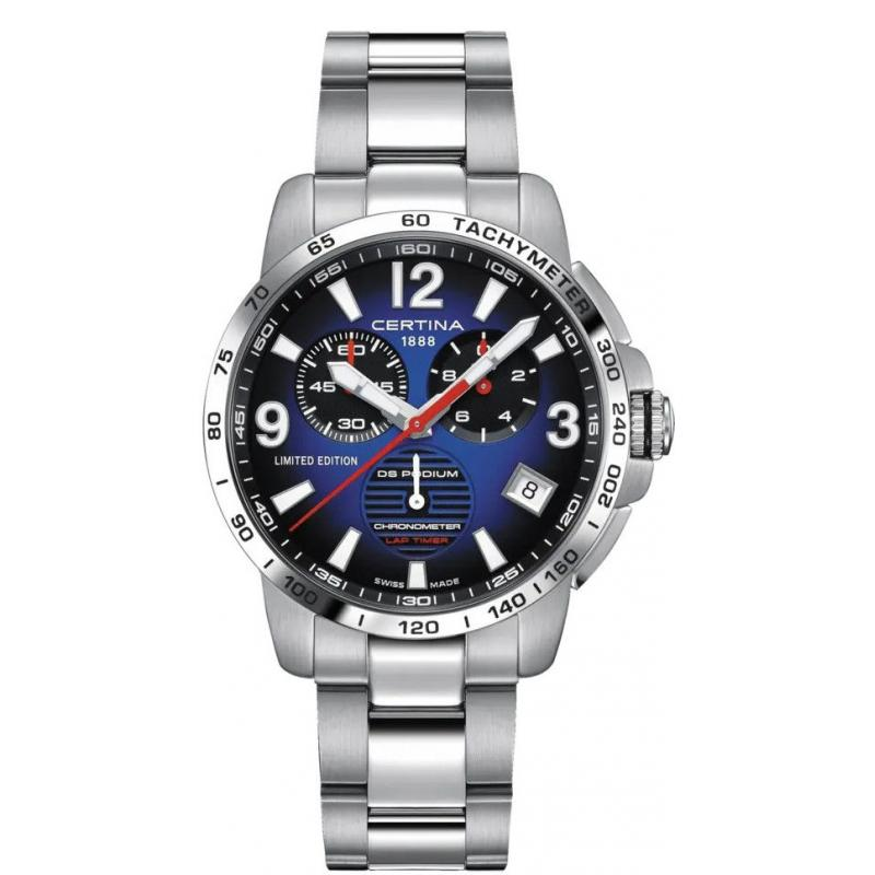 Hodinky Certina DS Podium Quartz Chronohraph Precidrive COSC Chronometer Lap Timer Limited Edition 450pcs C034.453.11.047.10