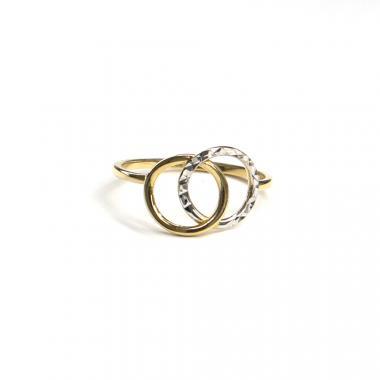 Prsten z dvoubarevného zlata PATTIC AU 585/000 1,40gr, ARP645201-53