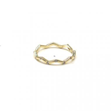 Prsten ze žlutého zlata Pattic AU 585/000 1,20 gr GU00901 se zirkony