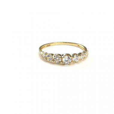 Prsten ze žlutého zlata a zirkony Pattic AU 585/000 1,85 g ARP539701-58