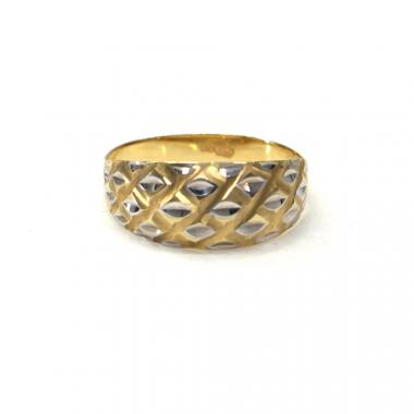 Prsten z dvoubarevného zlata Pattic AU 585/000 1,70 gr,  PR111108701