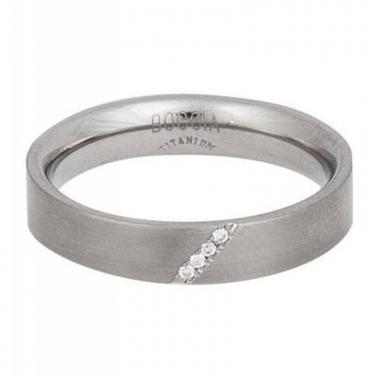 Titanový prsten BOCCIA s diamanty 0121-0759