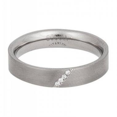 Titanový prsteň BOCCIA s diamantmi 0121-0759