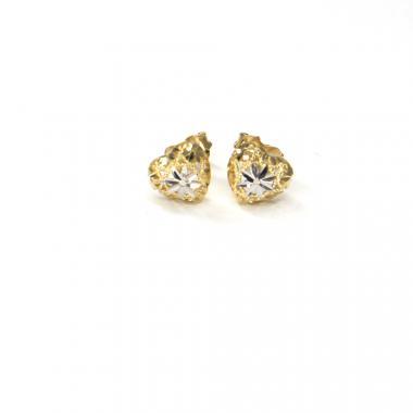 Náušnice ze žlutého zlata srdce Pattic AU 585/000 1,20 gr ARP310904Y