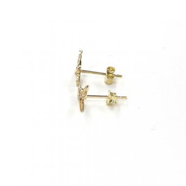 Náušnice PATTIC ze žlutého zlata vážka se zirkony AU 585/000 0,90 gr LMG3504Y