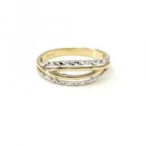 Prsten z dvoubarevného zlata  AU 585/000 2,05 gr, BA02301