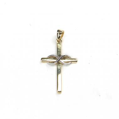 Přívěs ze žlutého zlata křížek Pattic AU 585/000 1,30 gr ARP104705Y