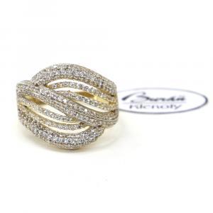 Prsten ze žlutého zlata a zirkony Pattic AU 585/000 3,35 gr, Z457001