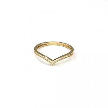 Prsten ze žlutého zlata a zirkony Pattic AU 585/000 1,05 gr ARP016001Y-52
