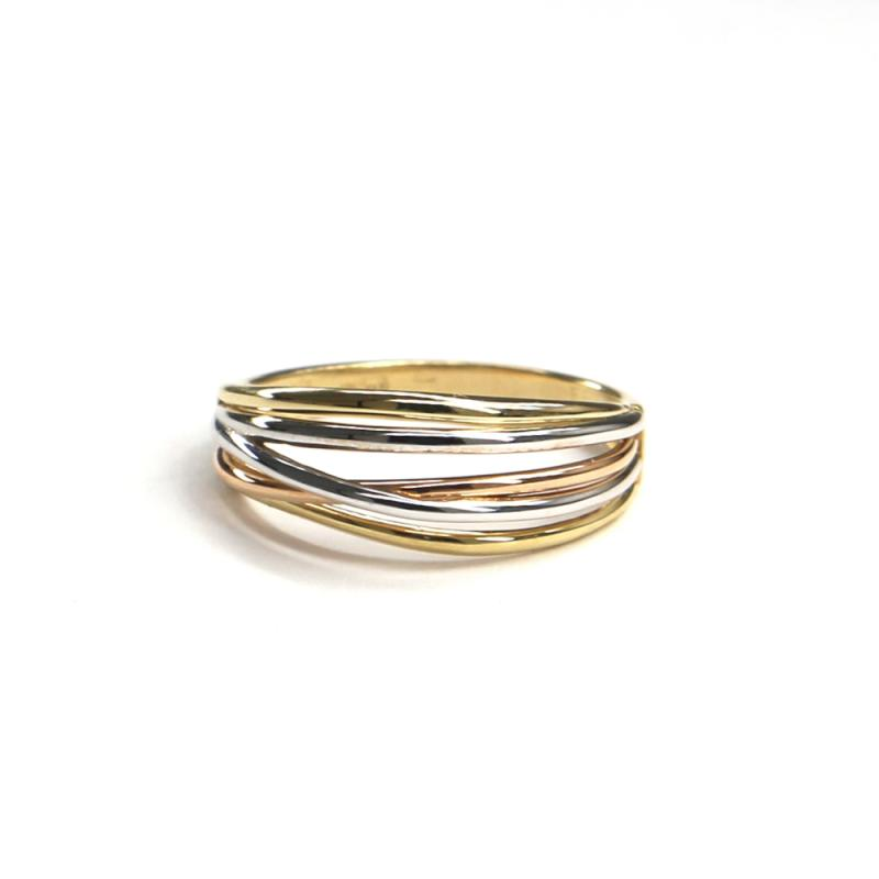 Prsten z tříbarevného zlata Pattic AU 585/000 2,7 gr, ARP652501-56