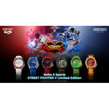 Hodinky SEIKO 5 Sports Automatic SRPF23K1 Street Fighter Limited Edition 9999pcs