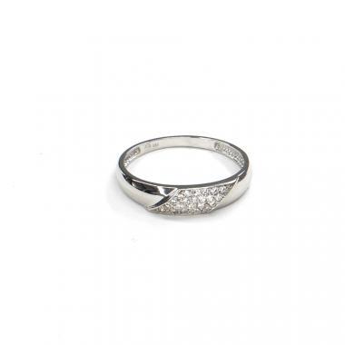 Prsten z bílého zlata se zirkony Pattic AU 585/000 1,85 gr GURDD0115290101-57