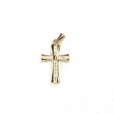 Přívěs ze žlutého zlata kříž se zirkony Pattic AU 585/000 1,55 gr LMG2305Y