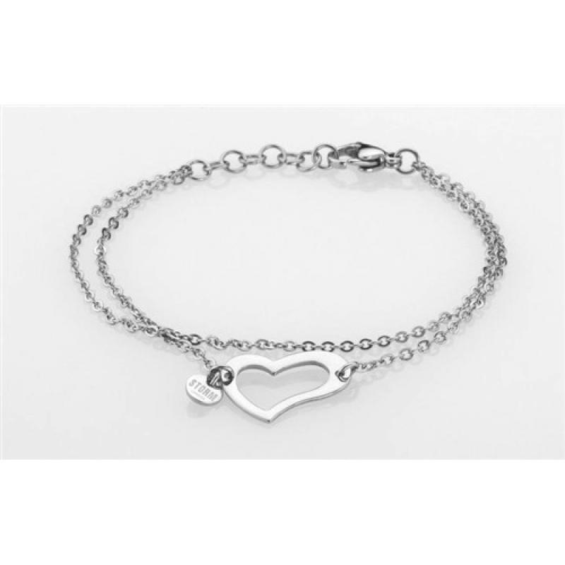 Náramek STORM Heart Bracelet Silver 9980510/S