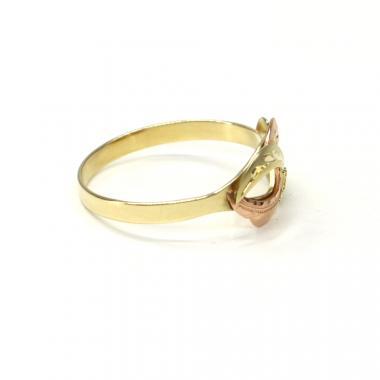 Prsten z dvoubarevného zlata Pattic AU 585/000 1,90 gr, ruční práce PR321004501