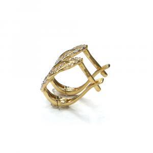 Zlaté náušnice se zirkony, Pattic AU 585/000 2,05 gr, ARP206704