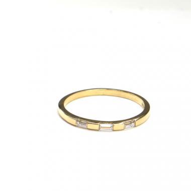 Prsten ze žlutého zlata a zirkony AU 585/000 1,35gr, ARP553401-54