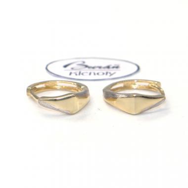 Náušnice ze žlutého zlata Pattic AU 585/000 1,61 gr,  BA07804