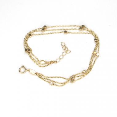 Náramek ze žlutého zlata Pattic AU 585/000 2,10 gr ARP575503Y-17-19