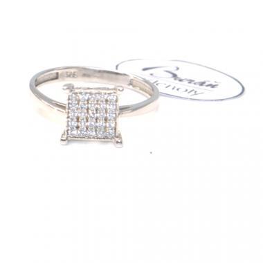 Prsten Pattic z bílého zlata doplněný zirkony AU 585/000, 2,00 gr, BV54801B-54