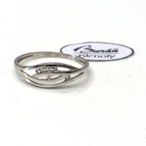 Prsten z bílého zlata a zirkony Pattic AU 585/000 1,50 gr, BA05401