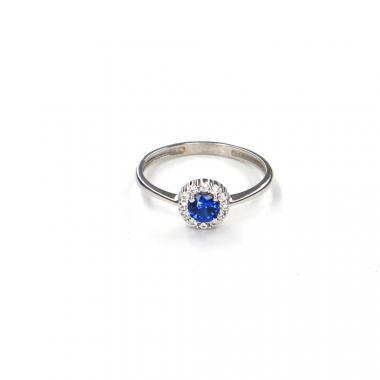 Prsten z bílého zlata s akvamarínem Pattic AU 585/000 1,35 gr LMG6901BLW-53