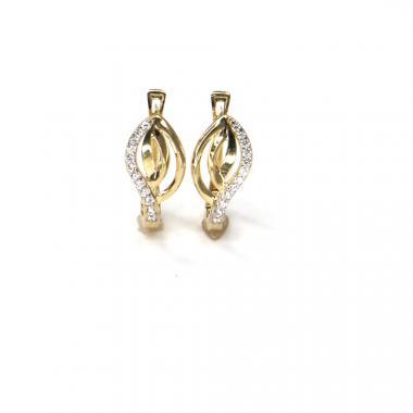 Náušnice ze žlutého zlata se zirkony Pattic AU 585/000 2,05 gr ARP026204Y