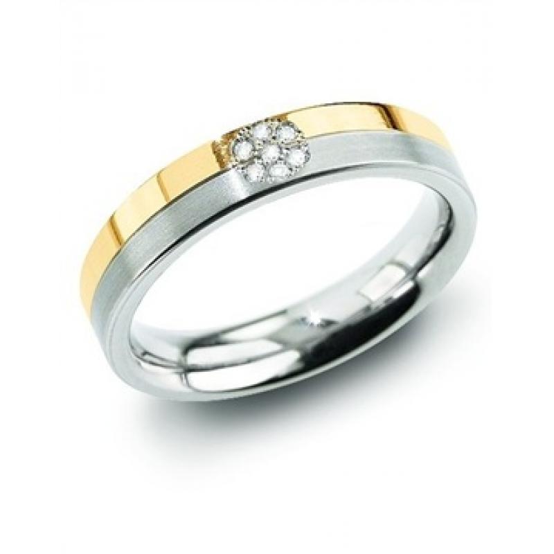 Titanový prsten BOCCIA s diamanty 0129-06