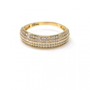 Prsten ze žlutého zlata a zirkony Pattic AU 585/000 2,15 gr PR111610801A
