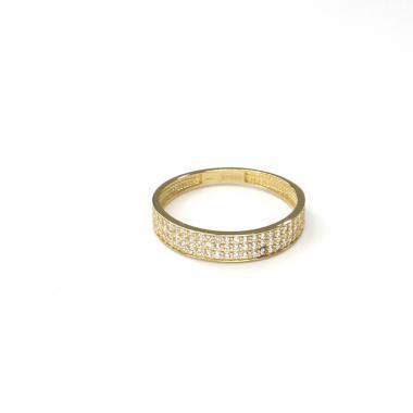 Prsten ze žlutého zlata a zirkony Pattic AU 585/000 1,25 gr ARP034001Y-54