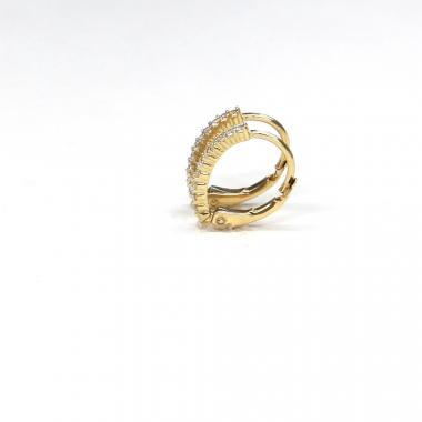 Náušnice ze žlutého zlata se zirkony Pattic AU 585/000 1,30 gr ARP625604Y