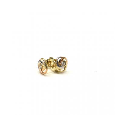 Zlaté naušnice PATTIC AU 585/000 1,00 gr GU00804 se zirkonem