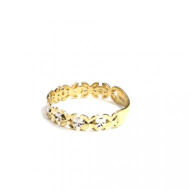Prsten z dvoubarevného zlata PATTIC AU 585/000 1,35 gr, ARP649801-56
