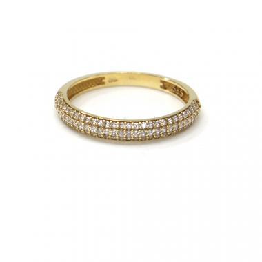 Prsten ze žlutého zlata a zirkony Pattic AU 585/000 1,80 gr Z56001