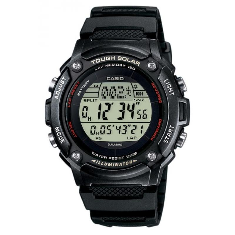 Pánské hodinky CASIO Tough Solar W-S200H-1B