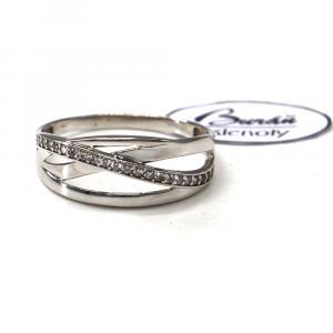 Prsten z bílého zlata se zirkony Pattic AU 585/000 2,02 gr, PR116630801-63