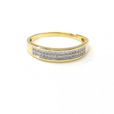Prsten ze žlutého zlata a zirkony Pattic AU 585/000 2,15 gr PR111401601A