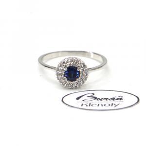 Prsten z bílého zlata a zirkony AU 585000 2,47 gr, PR116407001