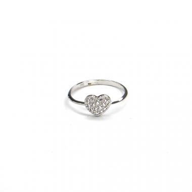 Prsten z bílého zlata srdce Pattic AU 585/000 1,45 gr BV210101W-56
