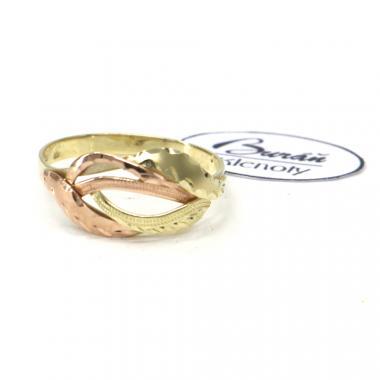 Prsten z dvoubarevného zlata Pattic AU 585/000 1,95 gr, ruční práce, PR321610301-58