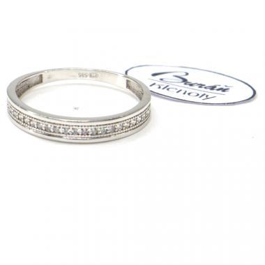 Prsten Pattic z bílého zlata doplněný zirkony AU 585/000, 1,70 gr, PR226108501-58
