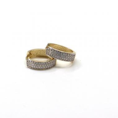 Naušnice ze žlutého zlata a zirkony Pattic AU 585/000 2,25gr  GU01204