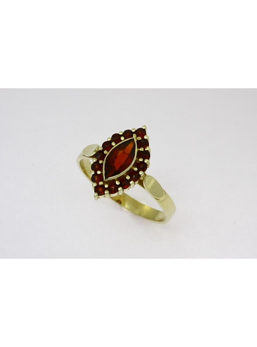 Zlatý prsten AU 585/000 3;7gr SOLUNA 1-227-0075