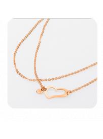Náhrdelník STORM Heart Necklace Rose Gold 9980566/RG