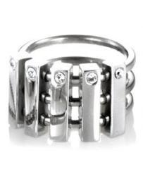 Prsten STORM Funkicharm Ring Silver 99650/S/M