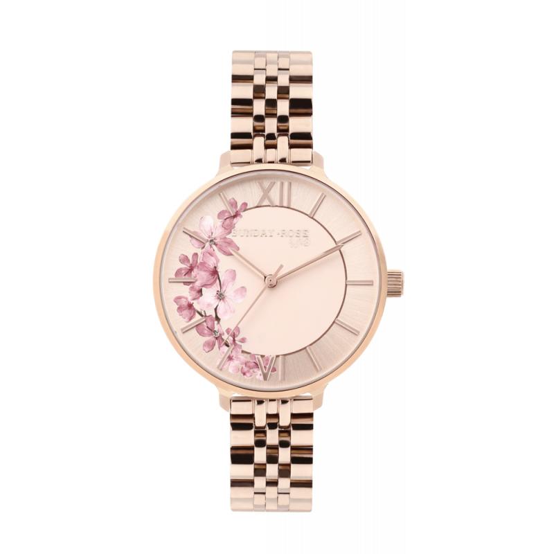 Dámské náramkové hodinky JVD SUNDAY ROSE Spirit ROSE GOLD SUN-S11